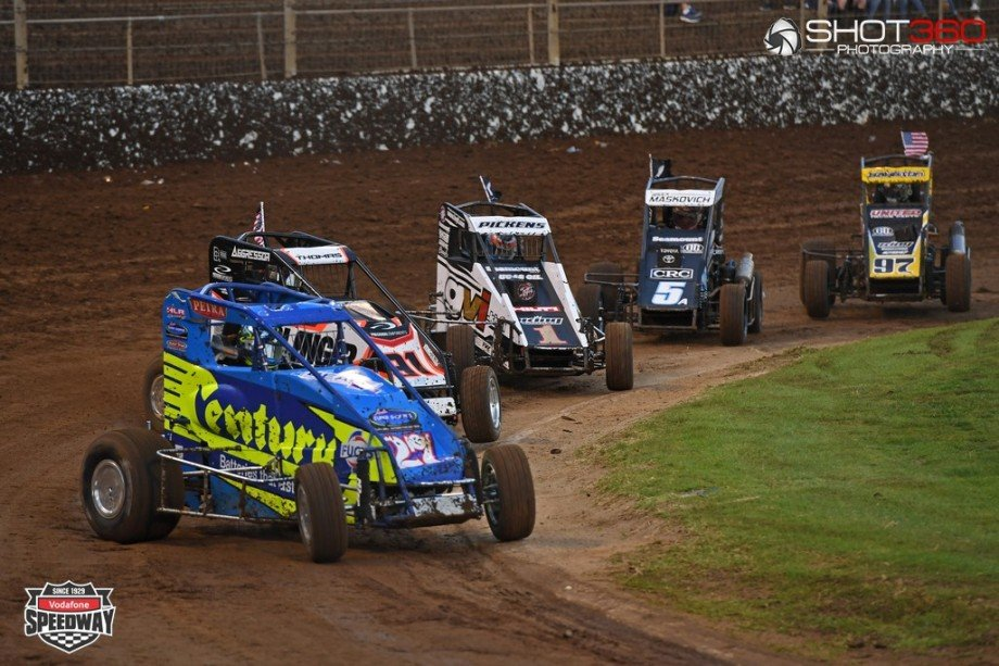 Western Springs Speedway, International Midget Series, Auckland, New Zealand on the 26th December 2016. Copyright photo: Jeremy Ward / www.shot360.co.nz